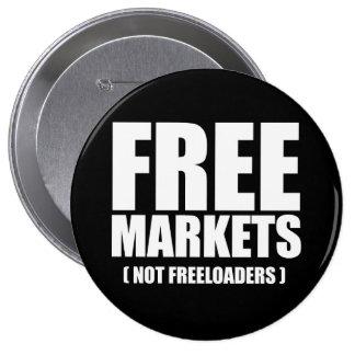Anti-Obama - Free Markets not Freeloaders white 10 Cm Round Badge