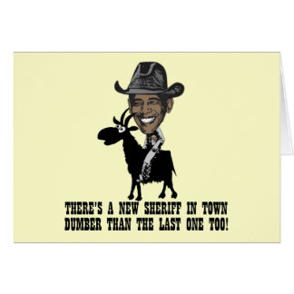 Anti Obama,goat herder Card