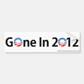 "Anti-Obama ""Gone In 2012"" Bumper Sticker"