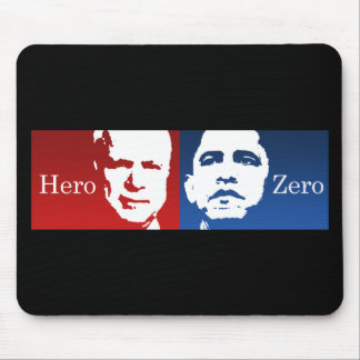Anti-Obama - Hero vs. Zero Mouse Pad