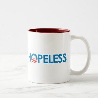 Anti-Obama - HOPELESS Two-Tone Coffee Mug
