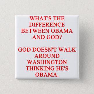 anti obama joke 15 cm square badge