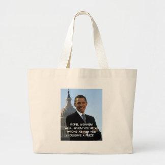 anti obama joke tote bags