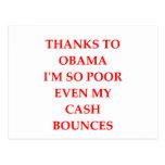 anti obama joke post card