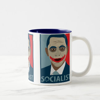 Anti-Obama Joker Socialist Two-Tone Mug
