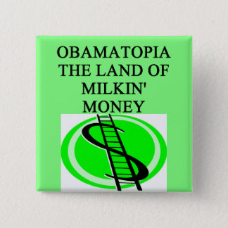 anti obama money joke 15 cm square badge