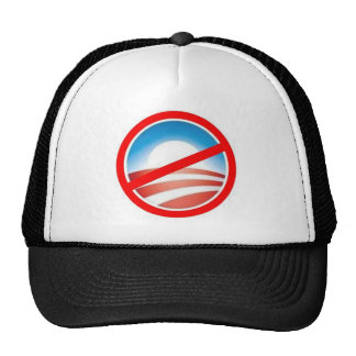 Anti-Obama - No Obama 2012 Mesh Hats