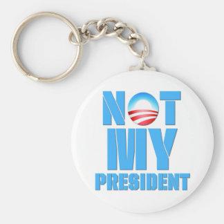 Anti Obama Not My President Basic Round Button Key Ring
