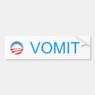 Anti-Obama O-Vomit  Bumper Sticker