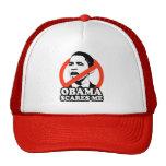 ANTI-OBAMA / OBAMA SCARES ME T-shirt Trucker Hats