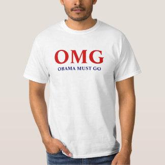 "Anti Obama ""OMG Obama Must Go"" T-Shirt"