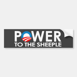 ANTI-OBAMA - POWER TO THE SHEEPLE BUMPER STICKER