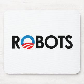 Anti-Obama - Robots black Mouse Pads