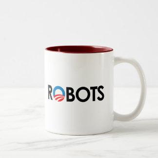 Anti-Obama - Robots black Mugs