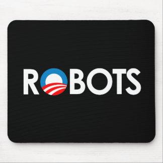 Anti-Obama - Robots white Mouse Pads
