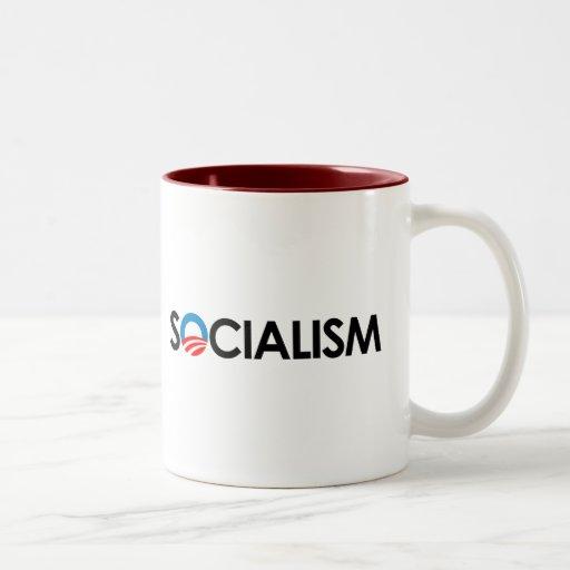 Anti-Obama - Socialism black Mugs