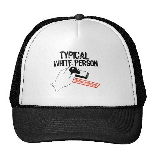 ANTI-OBAMA / TYPICAL WHITE PERSON MESH HATS