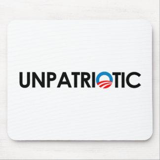 Anti-Obama - Unpatriotic black Mouse Pad