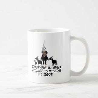 Anti Obama,village idiot Basic White Mug