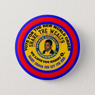 anti obama we love you barry 6 cm round badge