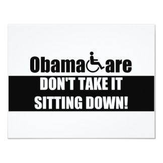 Anti ObamaCare 11 Cm X 14 Cm Invitation Card