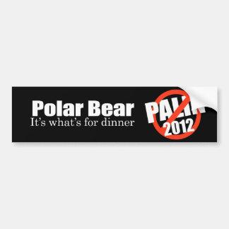 ANTI-PALIN - Polar Bear for dinner Bumper Sticker
