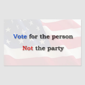 Anti Political Party Sticker
