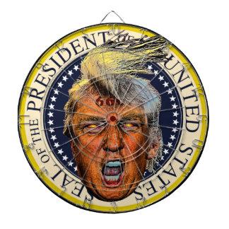 Anti President Trump Big Mouth Devil Dartboard