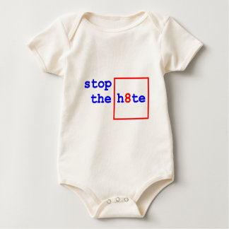 Anti-Proposition 8: stop the h8te Baby Bodysuit