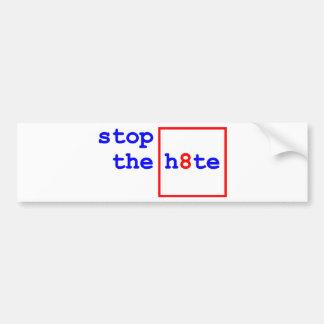 Anti-Proposition 8: stop the h8te Bumper Sticker