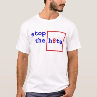 Anti-Proposition 8: stop the h8te T-Shirt