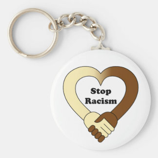Anti racism handshake  logo key ring