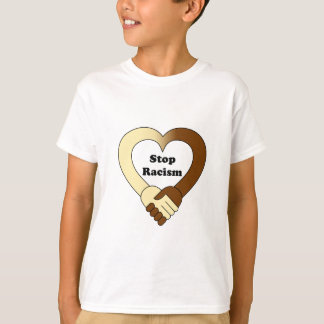 Anti racism handshake logo kids shirt
