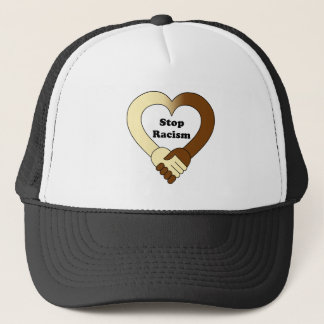 Anti racism handshake  logo trucker hat