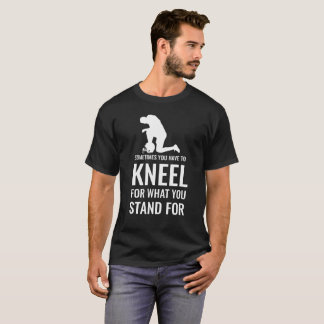 Anti racism kneel protest for equality football T-Shirt