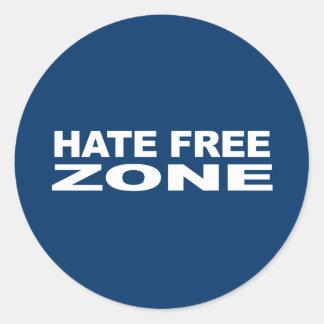 Anti-Republican - Hate Free Zone 2 Round Stickers