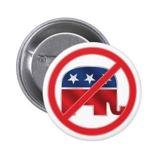 Anti-Republican Round Button