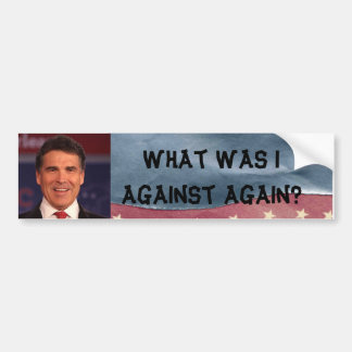 Anti Rick Perry Bumper Sticker