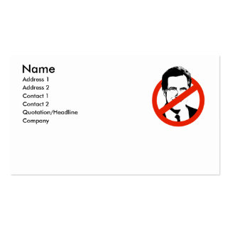 Anti Romney Business Cards
