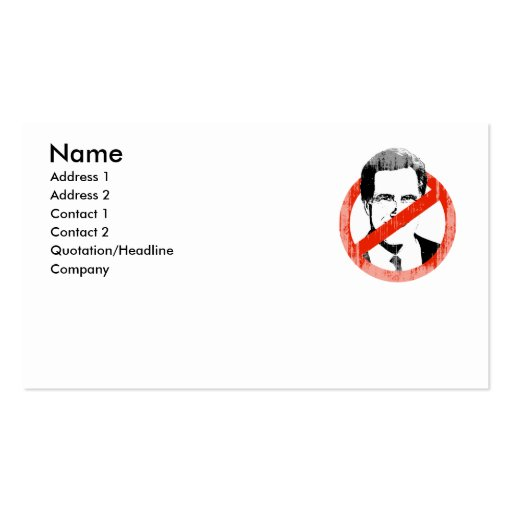 Anti Romney White.png Business Cards