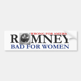ANTI ROMNEY Woman in Washing Machine Bumper Sticker