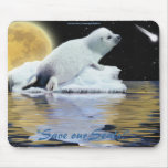 Anti-Sealhunt Cute Harp Seal Wildlife Mouse Pad Mousepads