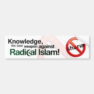 Anti Sharia Bumper Sticker - English