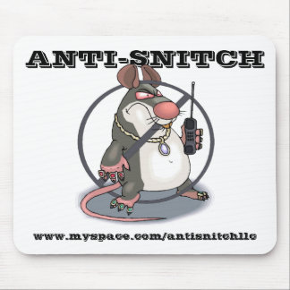 Anti-Snitch No Rats Mousepad