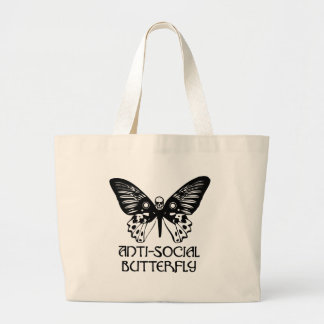 Anti-Social Butterfly Canvas Bag