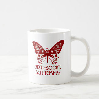 Anti-Social Butterfly Basic White Mug