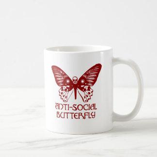 Anti-Social Butterfly Basic White Mug