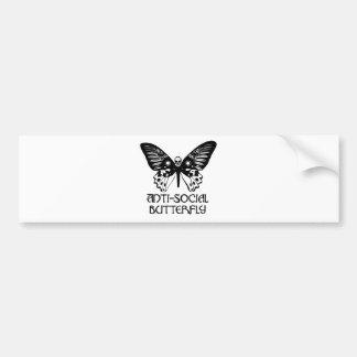 Anti-Social Butterfly Bumper Sticker