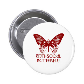 Anti-Social Butterfly Button