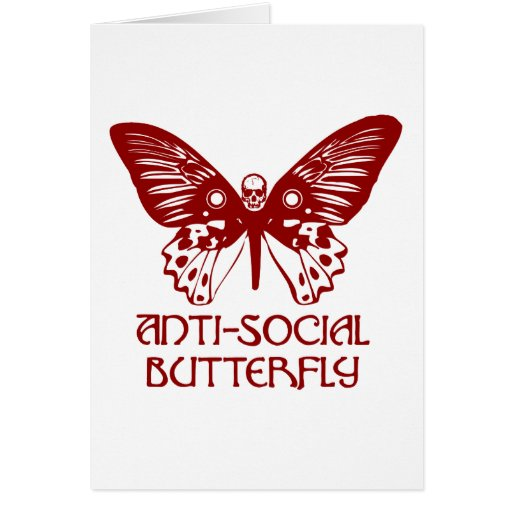 Anti-Social Butterfly Greeting Cards